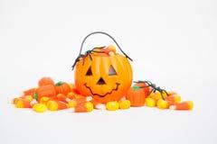 Fondo della caramella di Halloween Fotografie Stock Libere da Diritti