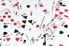 Fondo della carta da gioco Fotografia Stock