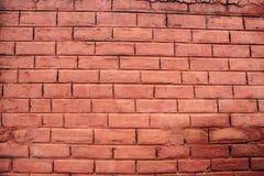 Fondo della carta da parati rossa del contesto di struttura del modello del muro di mattoni Fotografia Stock Libera da Diritti