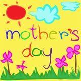Fondo della cartolina d'auguri per la festa della Mamma illustrazione vettoriale