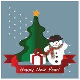 Fondo della cartolina di inverno Fotografia Stock