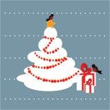 Fondo della cartolina di inverno Fotografie Stock