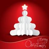 Fondo della cartolina di Natale Fotografie Stock
