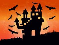 Fondo della casa di Halloween nel vettore Fotografie Stock
