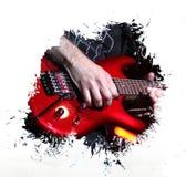 Fondo della chitarra di lerciume Immagini Stock Libere da Diritti