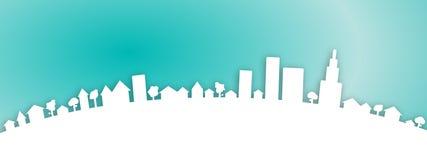 Fondo della città della città di web Fotografia Stock