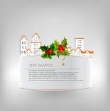 Fondo della città di Natale fatto degli autoadesivi di carta Fotografia Stock Libera da Diritti