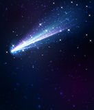 Fondo della cometa illustrazione vettoriale
