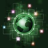 Fondo della comunicazione globale Immagine Stock