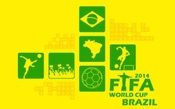 Fondo della coppa del Mondo della FIFA Immagine Stock