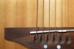 Fondo della corda della chitarra Fotografie Stock Libere da Diritti