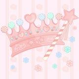 Fondo della corona di Candy illustrazione di stock