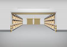 Fondo della costruzione del magazzino Immagine Stock Libera da Diritti