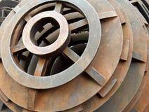Fondo della costruzione del metallo Immagine Stock