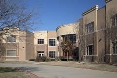 Fondo della costruzione della High School Immagine Stock Libera da Diritti