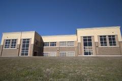 Fondo della costruzione della High School Fotografie Stock Libere da Diritti