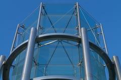 Fondo della costruzione della torre di vetro e del metallo Immagini Stock