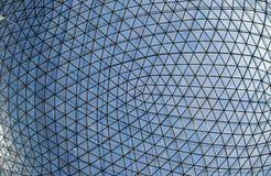 Fondo della cupola del metallo e di vetro Fotografie Stock Libere da Diritti