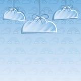 Fondo della decorazione della nuvola Fotografia Stock