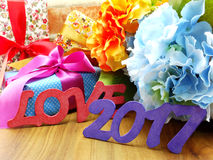 Fondo della decorazione di concetto del buon anno Immagini Stock Libere da Diritti