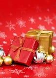 Fondo della decorazione di Natale Fotografie Stock