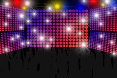 Fondo della discoteca Fotografia Stock Libera da Diritti
