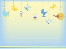 Fondo della doccia di bambino illustrazione di stock