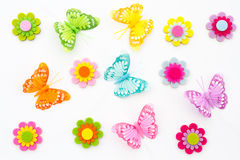 Fondo della farfalla di primavera Immagini Stock Libere da Diritti