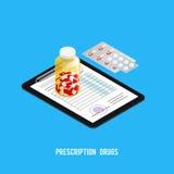 Fondo della farmacia di ricetta delle pillole royalty illustrazione gratis