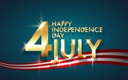 Fondo della festa dell'indipendenza felice, quarta di luglio Fotografie Stock Libere da Diritti