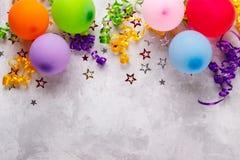 Fondo della festa di compleanno Fotografia Stock Libera da Diritti