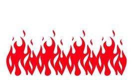 Fondo della fiamma del fuoco Insegna del fuoco Illustrazione di vettore illustrazione vettoriale