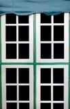 Fondo della finestra bianca Fotografie Stock Libere da Diritti