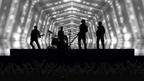 Fondo della folla di concerto illustrazione vettoriale