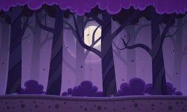 Fondo della foresta di notte Immagini Stock Libere da Diritti