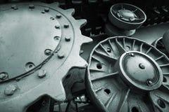 Fondo della foto di ingegneria dell'industria pesante Fotografia Stock Libera da Diritti