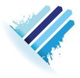 Fondo della freccia della linea blu della spruzzata illustrazione di stock