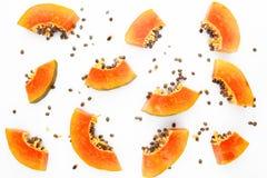 Fondo della frutta della papaia Fotografia Stock