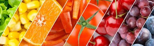 Fondo della frutta, delle bacche e delle verdure Fotografie Stock Libere da Diritti