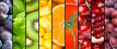 Fondo della frutta, delle bacche e delle verdure Immagine Stock Libera da Diritti