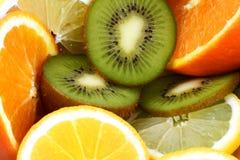 Fondo della frutta fresca Fotografia Stock