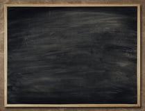 Fondo della lavagna nel telaio di legno, parete in bianco della lavagna, Scho Fotografia Stock Libera da Diritti