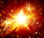 Fondo della luce della stella di Art Christmas Immagine Stock