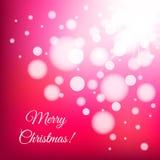 Fondo della luce di Natale Fotografia Stock