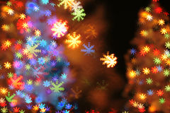Fondo della luce di Natale Immagini Stock