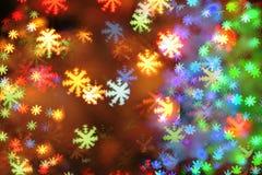 Fondo della luce di Natale Fotografia Stock Libera da Diritti