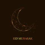 Fondo della luna per il festival musulmano della Comunità Immagini Stock Libere da Diritti