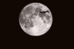 Fondo della luna piena isolato sul nero Fotografia Stock
