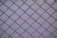 Fondo della maglia metallica e della neve Immagine Stock Libera da Diritti