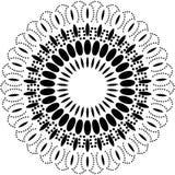 Fondo della mandala e progettazione in bianco e nero della carta da parati fotografia stock libera da diritti